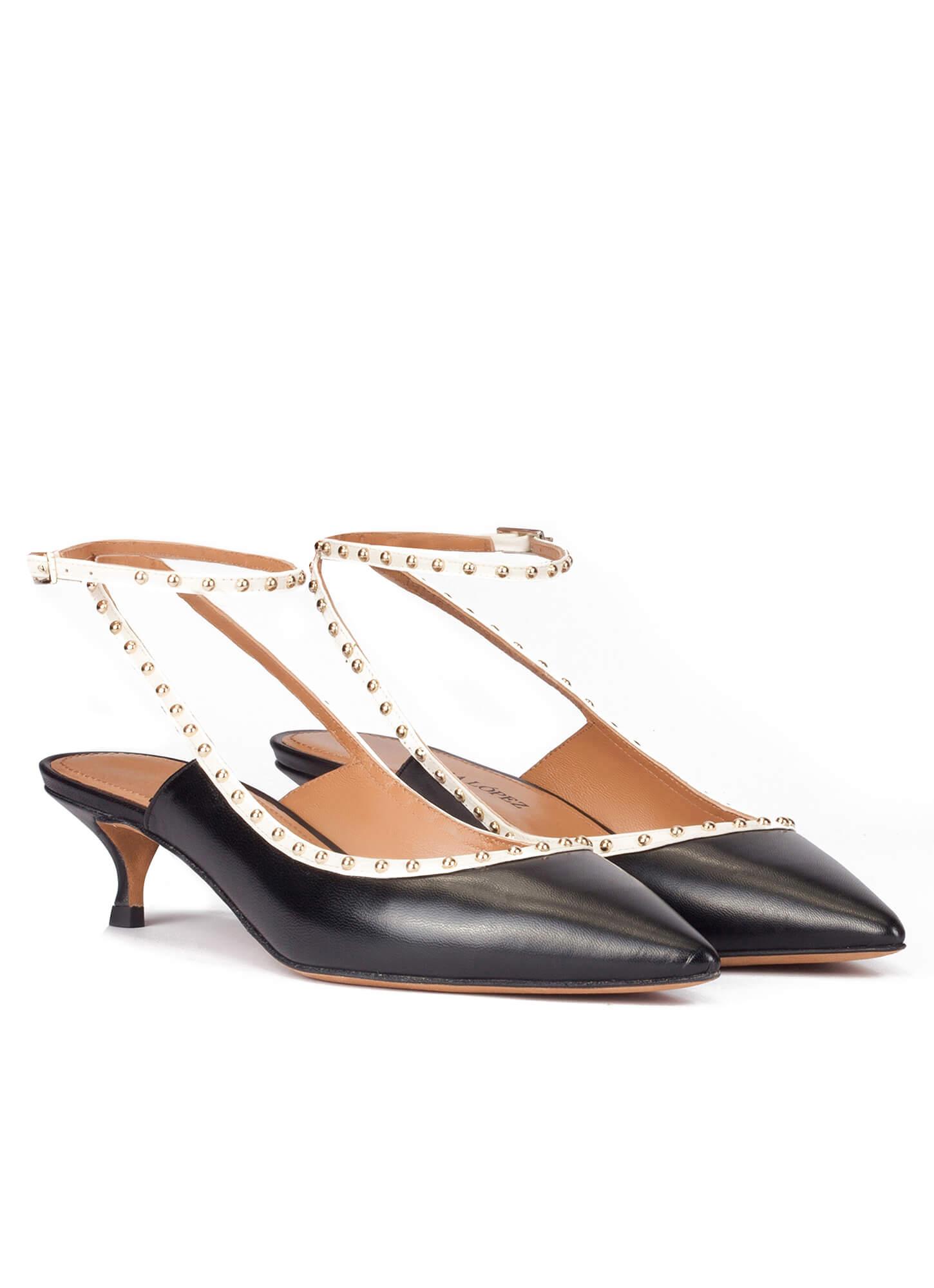 Y PulseraPura Con Lopez Tacón Negros De Zapatos Piel Medio PnN8k0wOX