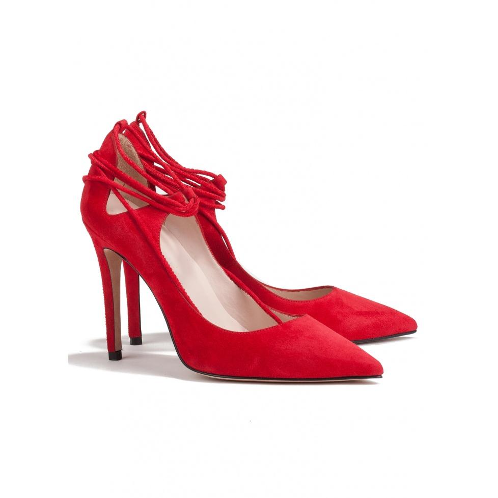Zapato de salón rojo de tacón alto - tienda de zapatos Pura López