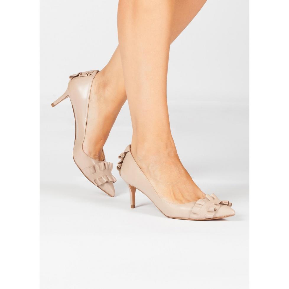Zapatos nude de medio tacón - tienda de zapatos Pura López
