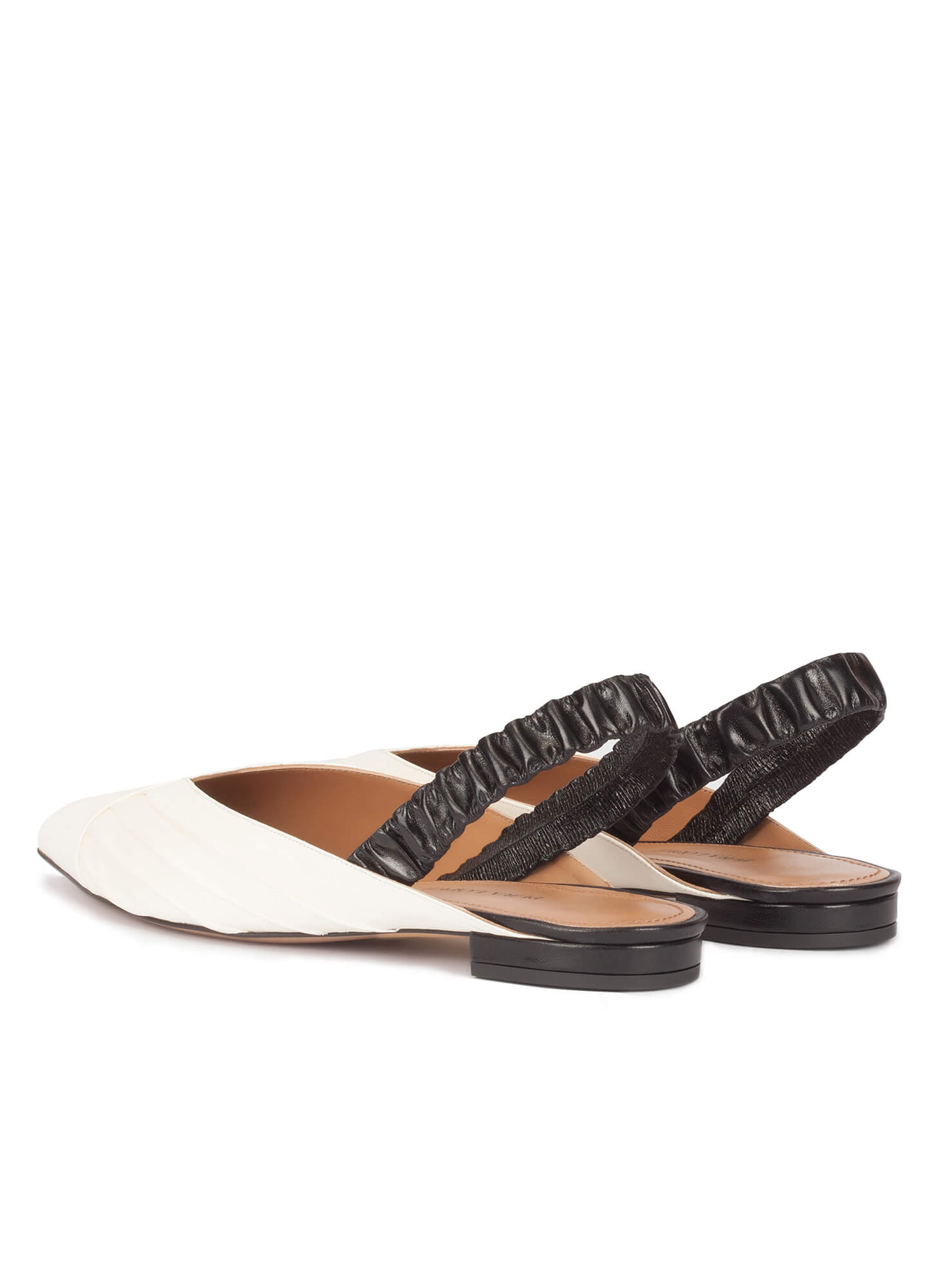 456d9bfa1a8 Oneka new arrivals Pura López. Slingback point-toe flats in white and black  leather