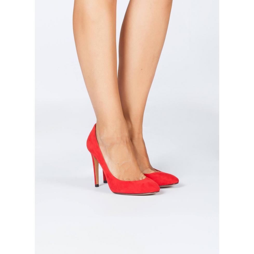 Red high heel shoes - online shoe store Pura Lopez