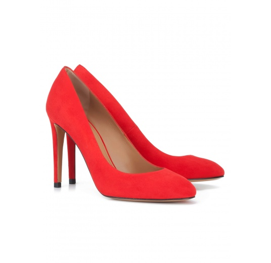 Red suede high heel pumps Pura L�pez