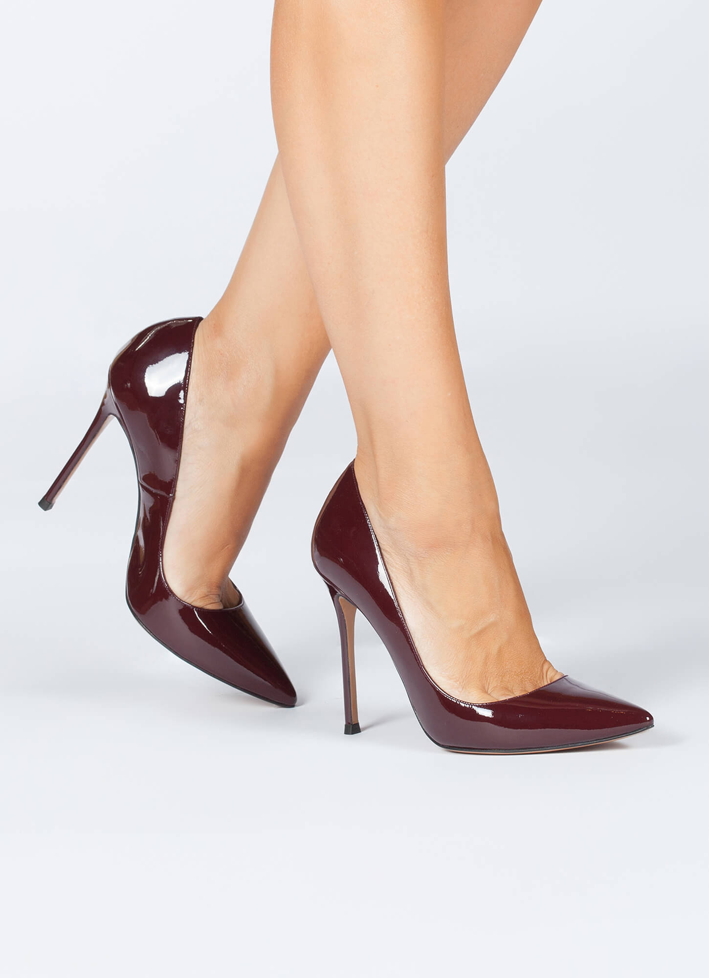 123eb0b08 Kameron icons Pura López. High heel pumps in burgundy patent leather High  heel pointy toe pumps in burgundy patent leather ...