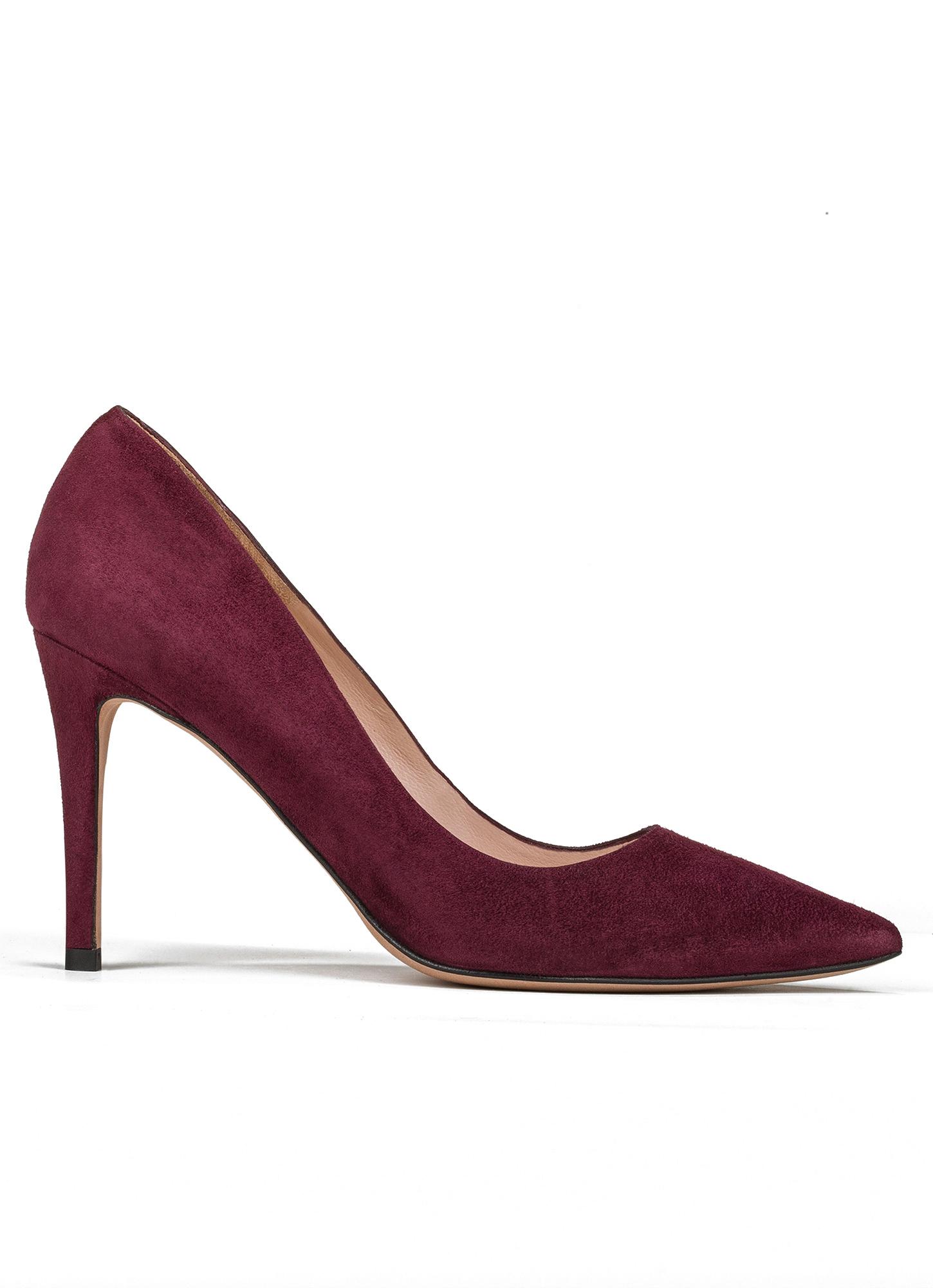 Zapatos Tacon Burdeos