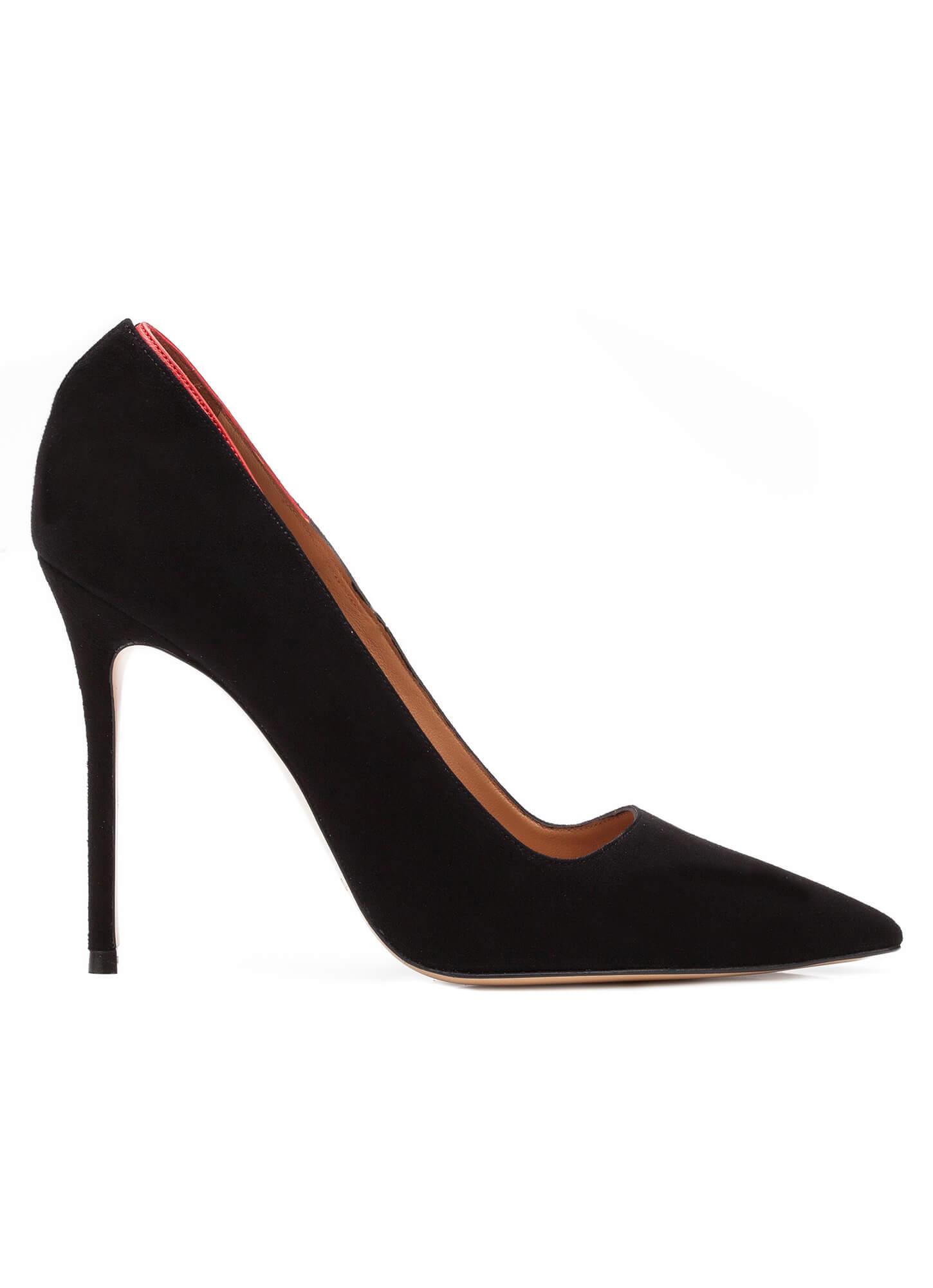 Zapatos de salón en ante negro - tienda de zapatos Pura López . PURA ... f7eca8208d3a