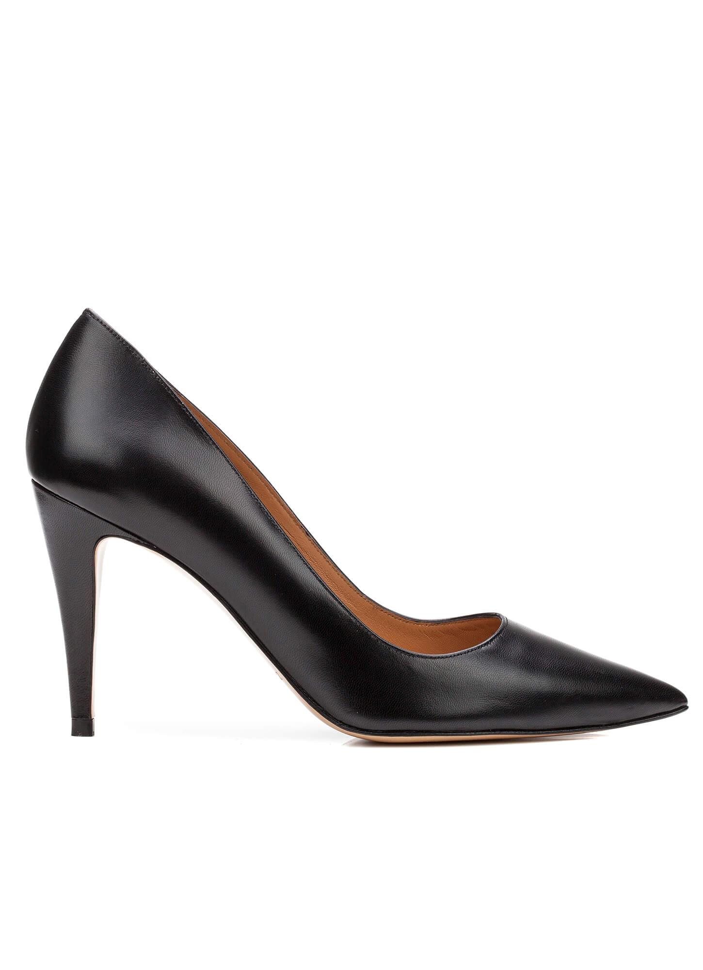 San Marina Zapatos De Tacón Castilla De Piel Negro Tacón: 6 cm X5S2lS