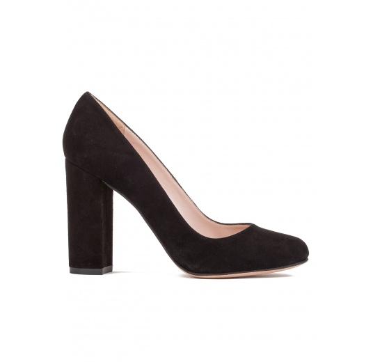 Block high heel pumps in black suede Pura L�pez