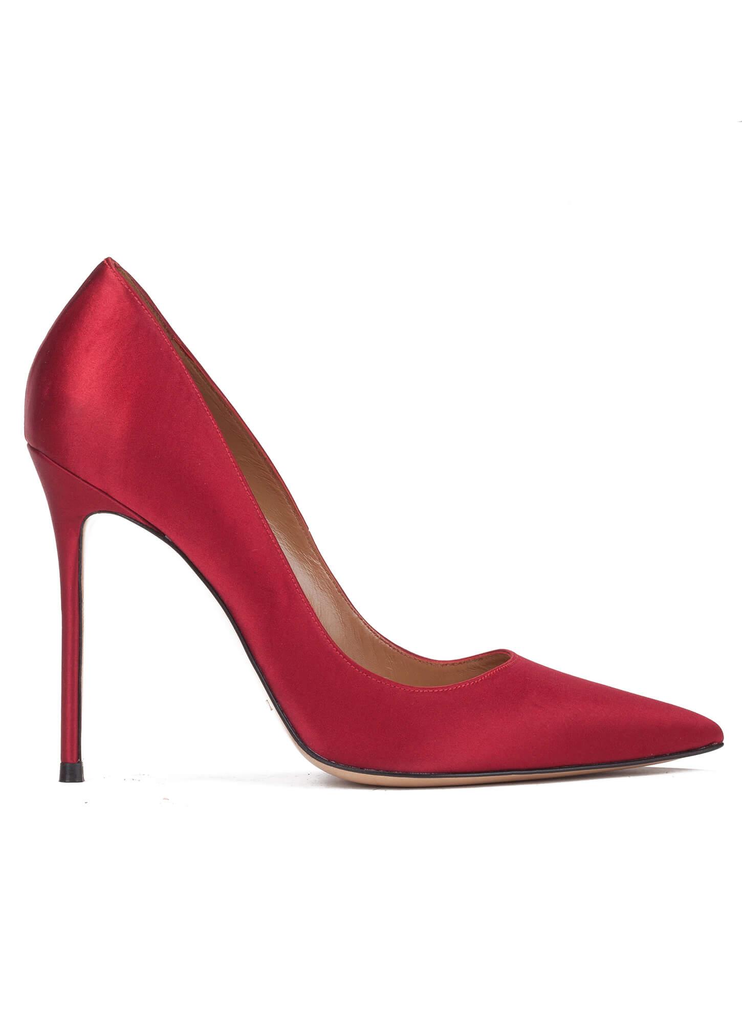 high heel pumps in red satin online shoe store pura. Black Bedroom Furniture Sets. Home Design Ideas