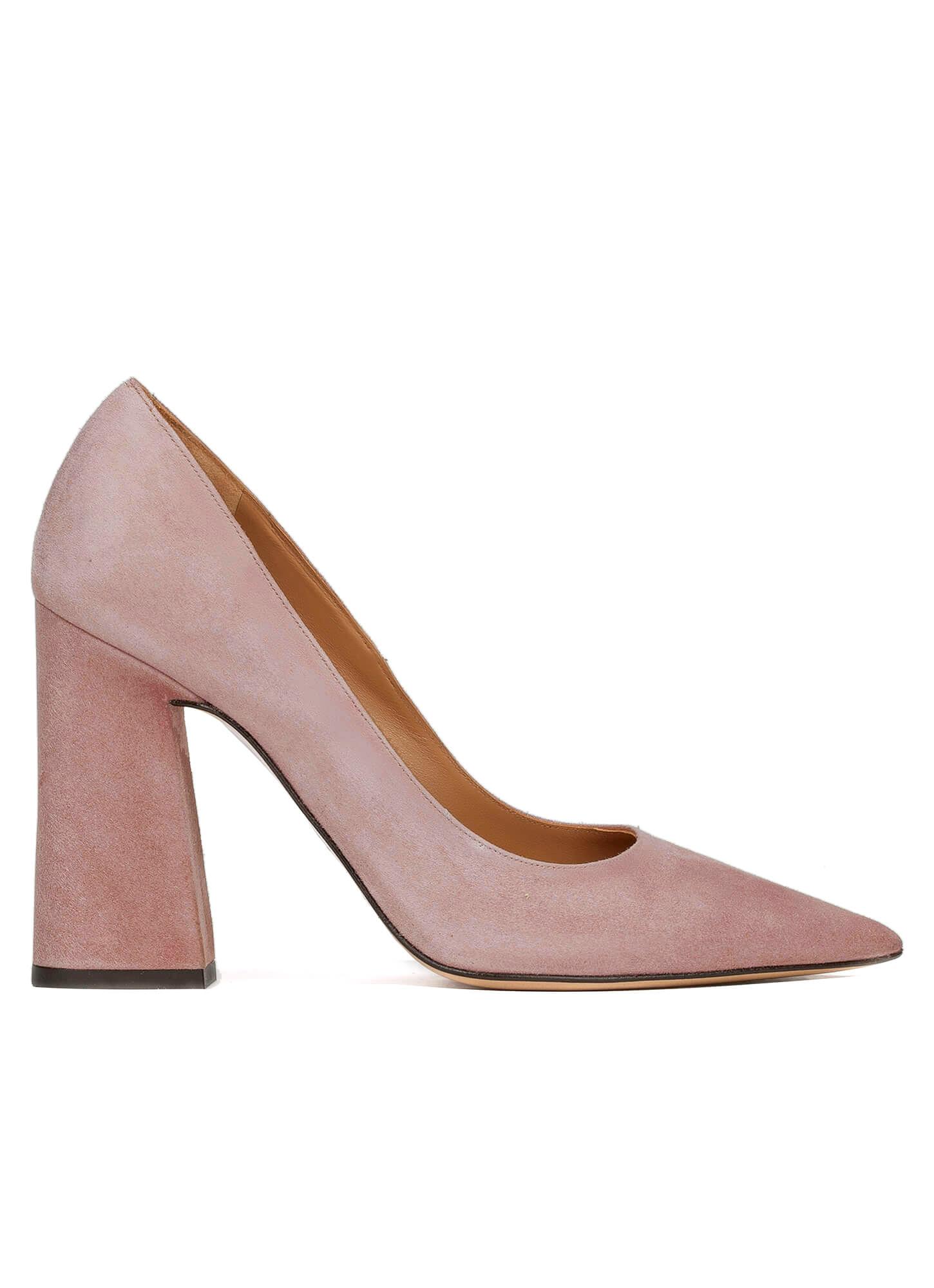 Pink high block heel pumps - online