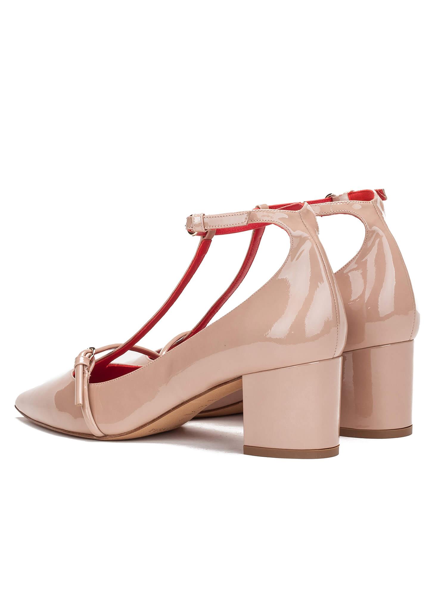 De Charol Medio Nude Pura Tienda Zapatos López Zapato En Tacón fdwEdx