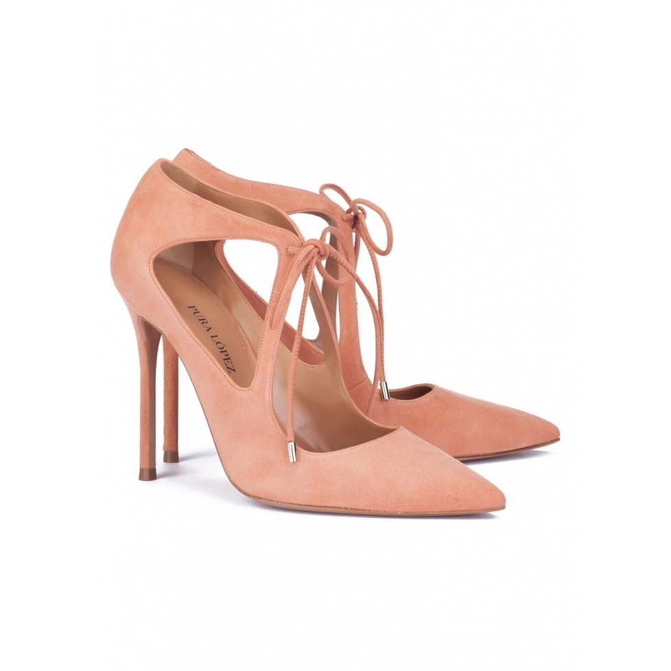 Old rose high heel shoes - online shoe store Pura Lopez