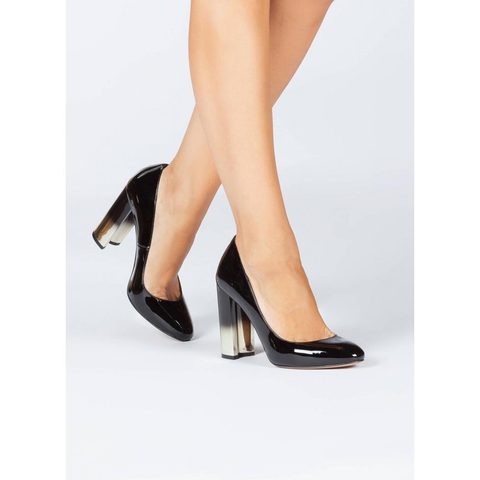 Zapatos negros de tacón alto - tienda de zapatos Pura López
