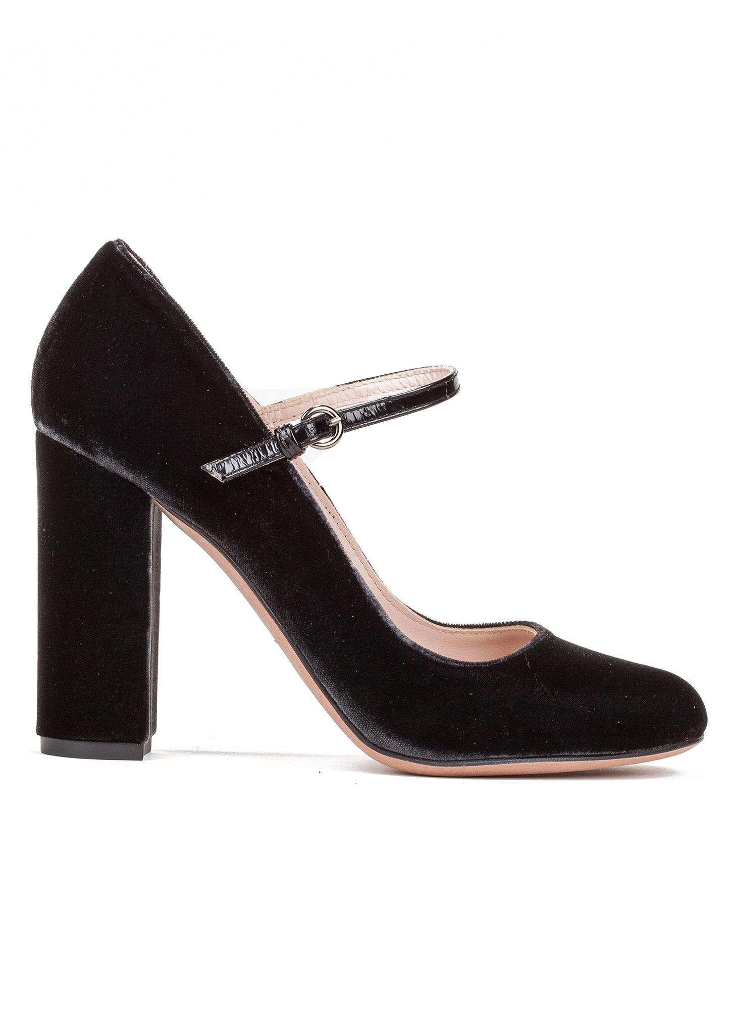 Zapatos de tacón forrados de terciopelo con hebilla gris 35 AvnLY