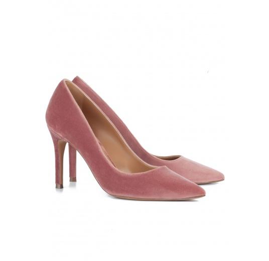 Nude velvet classic heels Pura L�pez